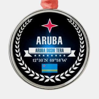 Ornement Rond Argenté Aruba