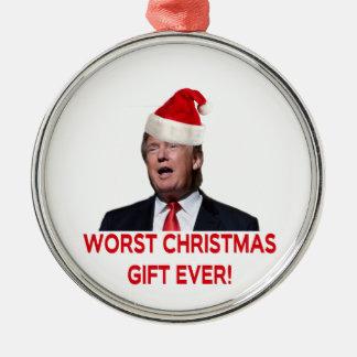 Ornement Rond Argenté Atout, le plus mauvais cadeau de Noël jamais !