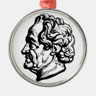 Ornement Rond Argenté Auteur allemand Goethe