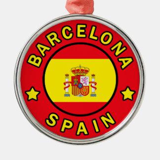 Ornement Rond Argenté Barcelone Espagne