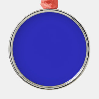 Ornement Rond Argenté Bleu