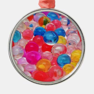 Ornement Rond Argenté boules de gelée de texture