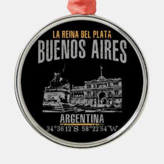 Ornement Rond Argenté Buenos Aires