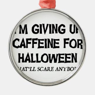 Ornement Rond Argenté Caféine pour Halloween