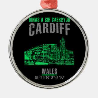 Ornement Rond Argenté Cardiff