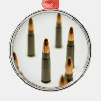 Ornement Rond Argenté Cartouche 7.62x39 d'AK47 de balle de munitions