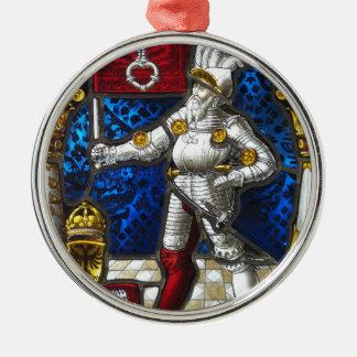 Ornement Rond Argenté chevalier #3