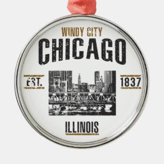 Ornement Rond Argenté Chicago
