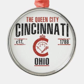 Ornement Rond Argenté Cincinnati
