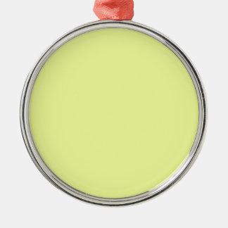 Ornement Rond Argenté citron de luis de couleur
