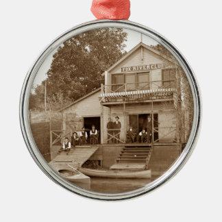 Ornement Rond Argenté club de rivière de Fox de club d'hommes de 1880's