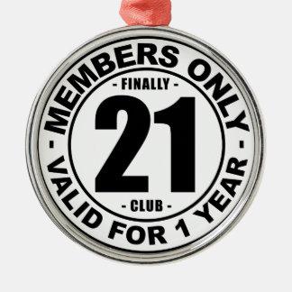 Ornement Rond Argenté Club enfin 21