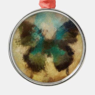 Ornement Rond Argenté Collection #2 de papillon