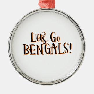 Ornement Rond Argenté Copie de Bengals