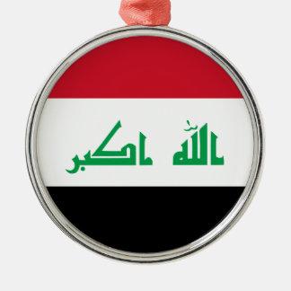 Ornement Rond Argenté Coût bas ! Drapeau de l'Irak