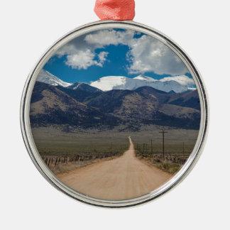Ornement Rond Argenté Croisière de route de dos de vallée de San Luis