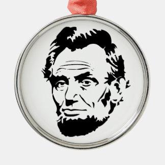 Ornement Rond Argenté Croquis d'Abraham Lincoln