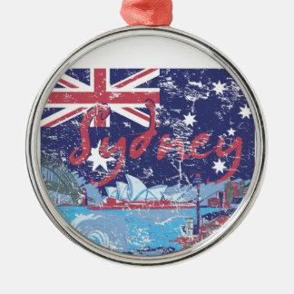 Ornement Rond Argenté cru australie de Sydney