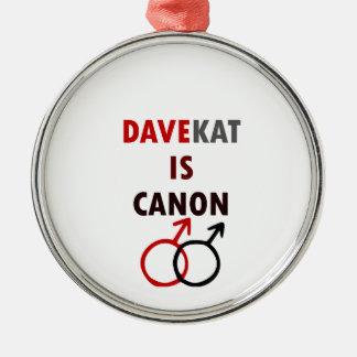 Ornement Rond Argenté Davekat est Canon (v1)