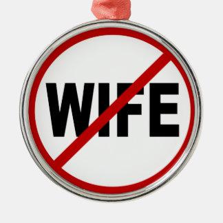 Ornement Rond Argenté Déclaration de signe permise par épouse de la