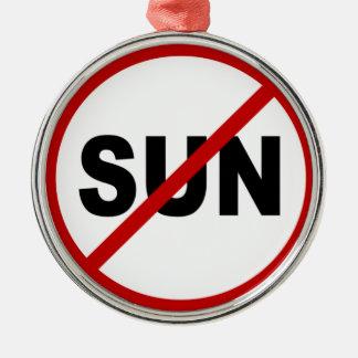 Ornement Rond Argenté Déclaration de signe permise par Sun de la haine