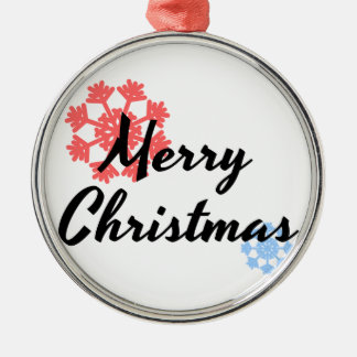 Ornement Rond Argenté Décor d'arbre de Joyeux Noël
