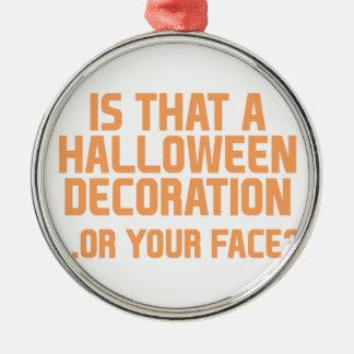 Ornement Rond Argenté Décoration de Halloween