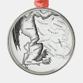 Ornement Rond Argenté Découpage arbitraire de circonscriptions