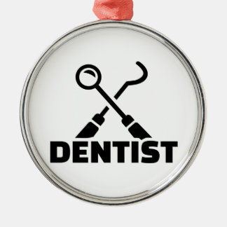 Ornement Rond Argenté Dentiste