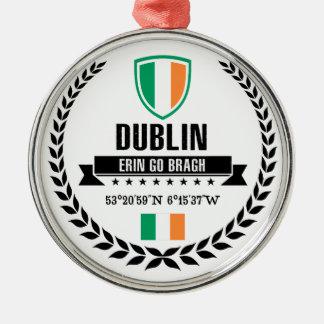 Ornement Rond Argenté Dublin