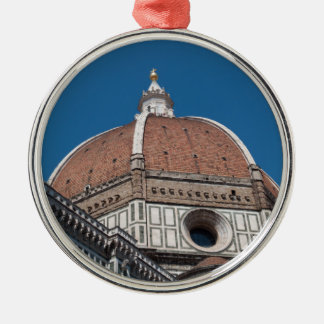 Ornement Rond Argenté Duomo à Florence Italie