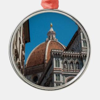 Ornement Rond Argenté Duomo de Florence ou de Firenze Italie