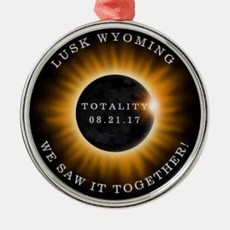 Ornement Rond Argenté Éclipse solaire de Noël d'évènements mémorables