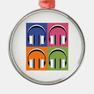 Ornement Rond Argenté écouteurs dans des couleurs lumineuses