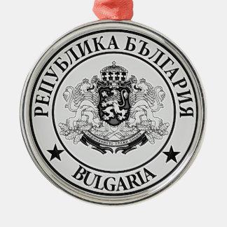 Ornement Rond Argenté Emblème rond de la Bulgarie