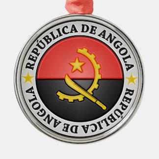 Ornement Rond Argenté Emblème rond de l'Angola