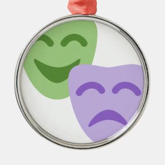 Ornement Rond Argenté Emoji Twitter - Drama Theater
