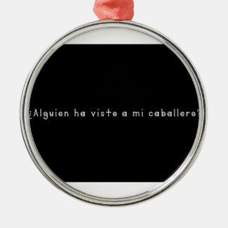 Ornement Rond Argenté Espagnol-Chevalier
