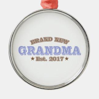 Ornement Rond Argenté Est tout neuf de grand-maman. 2017 (pourpre)