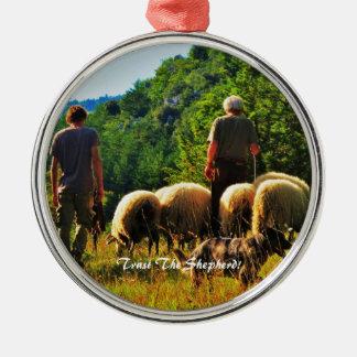 Ornement Rond Argenté Faites confiance à l'ornement de berger