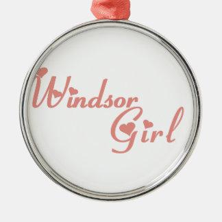 Ornement Rond Argenté Fille de Windsor