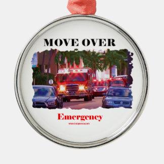 Ornement Rond Argenté Fire_Move_Over.