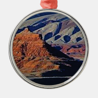 Ornement Rond Argenté formes naturelles du désert