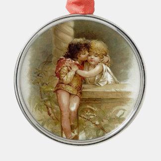 Ornement Rond Argenté Frances Brundage : Romeo et Juliet - art vintage
