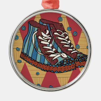 Ornement Rond Argenté funky shoes