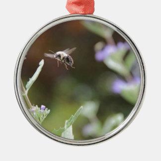 Ornement Rond Argenté Gaffez l'abeille
