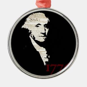Ornement Rond Argenté George Washington - conception 1776