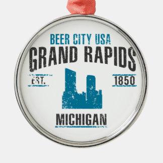 Ornement Rond Argenté Grand Rapids