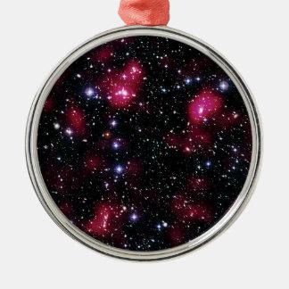Ornement Rond Argenté Groupe Abell de galaxie 901/902 photo de l'espace