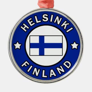 Ornement Rond Argenté Helsinki Finlande